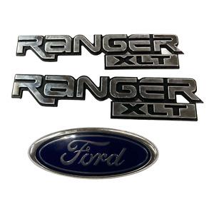 1999 Ford Ranger XLT OEM Left Right Fender Emblem Badge Logo Symbol 98 01 02 03
