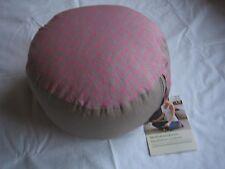 TCM Tchibo Meditationskissen, Yogakissen, m.Trageschlaufe,grau/pink Ø 33 cm