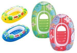 Bestway Kinder Schlauchboot Pool Boot aufblasbares Kinderboot rot grün 3-6 Jahre