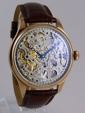 UNIQUE Montre squelette Seagull type UNITAS 6497 skeleton watch ROSEGOLD