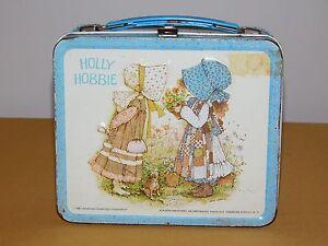 VINTAGE  1981 ALADDIN HOLLY HOBBIE  METAL LUNCHBOX