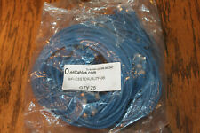 Lot of 25 Cat5e patch cords Blue 6 Foot 6' cord ethernet cable RJ45