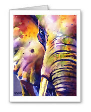 Elephant Set of 10 Note Cards With Envelopes