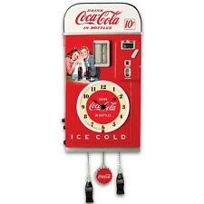 COCA-COLA 1950s-Style Vending Machine Illuminated Wall Clock