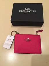 100% Authentic COACH SV / Amaranth Mini Skinny in Embossed Textured Leather -NWT