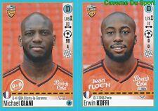 316-317 MICHAEL CIANI - ERWIN KOFFI LORIENT.FC STICKER FOOT 2017 PANINI