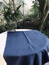 nappe ancienne en lin  teinte en Bleu Indigo