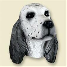 English Setter Blue Belton Dog Head Painted Stone Resin Magnet