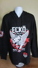 2XL 1972 Ecko Unltd MMA Battle Tested Black Thermal Hoodie Jacket Sweater Shirt