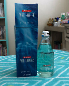OLD SPICE WHITEWATER 3.4 OZ. AFTER SHAVE WITH BOX RARE MENS AFTERSHAVE