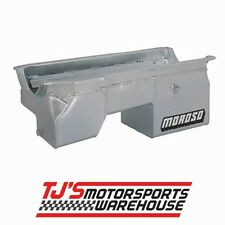 Moroso Oil Pan - 20530: 8 qt. Street/Strip Oil Pan, Steel (Driver Side DS)