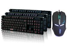 UK SET - Ajazz Cyborg Soldier Backlit Gaming Keyboard + 7D Iron Man Gaming Mouse