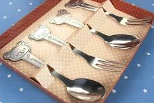 Cute Rilakkuma San-X Bear Stainless Steel Fork & Spoon Set Flatware Sets