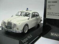 WOW EXTREMELY RARE Jaguar MkII 1959 Police Worcester 1:43 Minichamps-c/d/e type