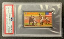 1962 DICKSON ORDE & CO BABE RUTH SPORTS OF THE COUNTRIES CARD #11 PSA 8 NM-MT