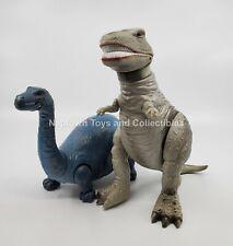 Dinosaur Warrior Brontosaur & Tyrannosaurus Rex Vintage Dinosaur Hg Toys 1987