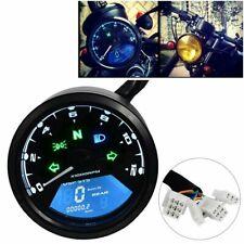 DE Neu Digital Motorrad Tacho Kilometerzähler Tachometer LED Kontrollleuchten