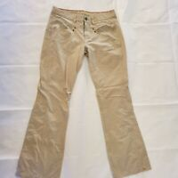 Royal Robbins Women's Size 6 Beige Nylon Roll Up Cargo Hiking Pants Outdoors