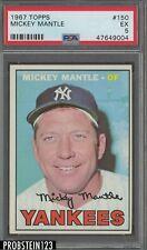 1967 Topps #150 Mickey Mantle New York Yankees HOF PSA 5 EX