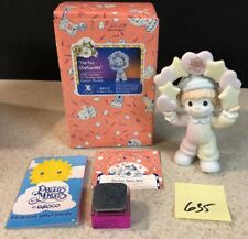Precious Moments   b0112, The Fun Starts Here MIB With Rare Rubber Stamp