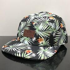 VANS DAVIS 5 PANEL BLACK DECAY PALM PRINT CAP HAT