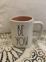 Rae Dunn by Magenta BE YOU Mug W/ Pink Interior Coffee Tea Mug LL *Brand New