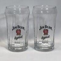 Lot of 2 JIM BEAM Highball Glasses - 10 oz - NEW