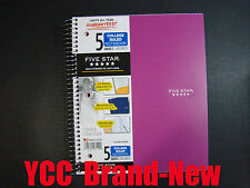 Mead Five Star Spiral Notebook 5sub,200S',College Ruled,11 x 8.5in,Pink Cover
