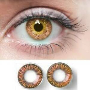 Hazel New Safe Design Case Color Contacts One Pair Best Quality Bright