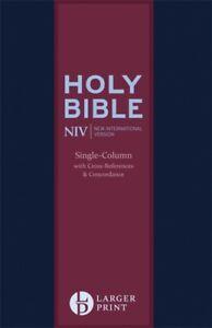 NIV LARGE PRINT COMPACT LEATHER BIBLE