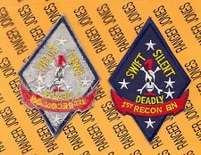"USMC MARINE CORPS 1st Marine Division 1st RECON Bn 4 3/4"" Airborne pocket patch"