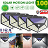100 LED Solar Power PIR Motion Sensor Wall Light Outdoor Garden Lamp Waterproof~
