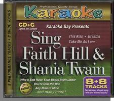 Karaoke CD+G - Faith Hill & Shania Twain - New 8 Song CD with 4 Hits by Each!