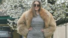 Knee lenght Silver red fox fur coat. Size L/XL. Very good shape