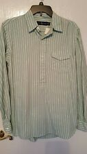 NEW $98.50 RALPH LAUREN  green and white striped shirt in size M.