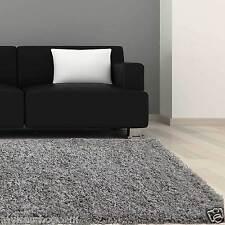 Hochflor Teppich Shaggy Langflor in grau 160x230cm Wohnzimmer Kuschelteppich NEU