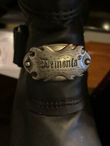 "Demonia Black W Pink/white 👀 Platform Boots 3"" Goth High Zipper Womens Sz  7"