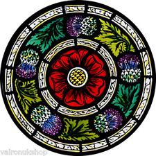 Vidriera Arte-estática Decoración-Rose y los cardos