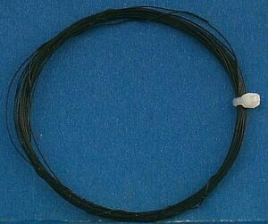 """36 AWG 0.005"""" 0.127mm Ultra Fine 7 Stranded Decoder Wire Black 5 meters"""