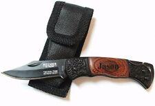 6 Personalized Pocket Knife Groomsmen Gift Engraved Wooden Groomsman Knives Set