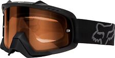 Fox Racing Airspc Goggle Enduro Matte Black  / Orange Dual Pane Lens MX ATV MTB