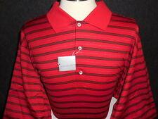 NEW MEN'S MARTIN GOLF ETON STRIPE LISLE S/S POLO SHIRT, RED, SIZE XX-LARGE