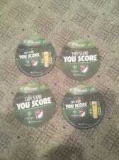 LOT of FOUR Heineken Beer Coasters!  Soccer MLS UEFA NEW They Score You Score