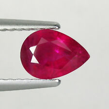 0.91 ct  NORMAL HEATED NATURAL PINK RED RUBY - BURMA - Pear  #  3374