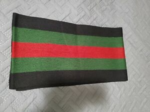 Gucci Wool Scarf. Classic Black/Green/Red. Perfect Condition!