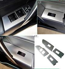 Chrome Interior Door Armrest Window Switch Cover Trim for Toyota Corolla 2014