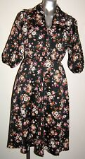 VINTAGE WOW adorable FLORAL smock DRESS 8 - 10