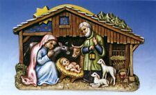 Gießform Weihnachten Krippe Fondant Beton Gipsgießen Reliefgießen