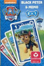 Paw Patrol - Black Peter and Memo (2 games) playing cards