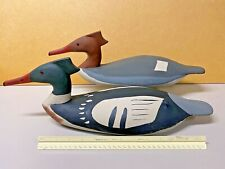 Red Breasted Merganser Duck Decoy Pr. Glass Eyes, Contemporary & Colorful Design